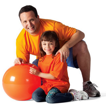 Father and daughter at YMCA